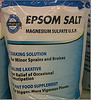 Epsom salts are not a food additive like sea salt.  Use it for softening water, plant supplement, laxative or bath soak.  Soothes dry itchy skin, reduce inflammation and relieve painful arthritis and sore muscles.