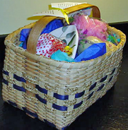 Combination homemade crafts are packaged together, made at Spencer's Farm!  They're inexpensive gifts!
