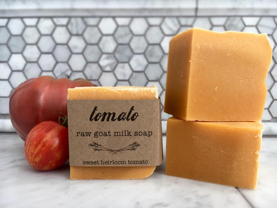 Use tomatoes for making homemade soap!  Shrink large pores.  Get acne relief!