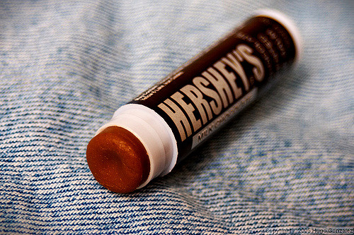Chocolate is used in lip balm!  Dark chocolate recipes for skin!