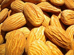 Discover health benefits of almonds!  Find almond recipes for skin and hair!